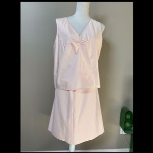 NWT Talbot shell pink 2-Piece spring  top skirt 20